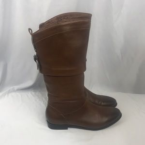 Aldo Brown Leather Calf Length Boots Size 8